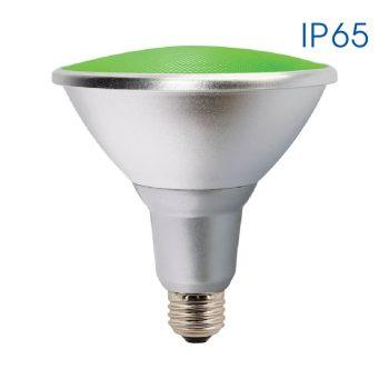 SILVER LED PAR38 15W E27 GREEN